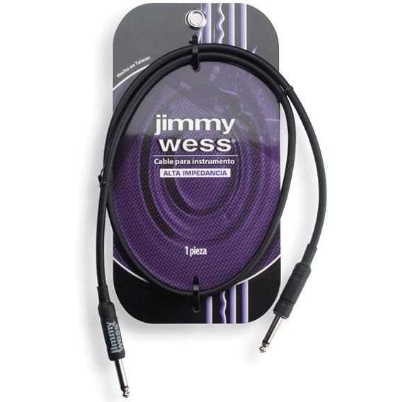 Cable de alta impedancia para instrumento, negro, de 1 metro.
